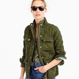 J. Crew Green Quilted Downtown Field Jacket XS